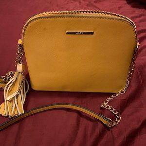 Mustard/ Yellow Aldo Crossbody purse